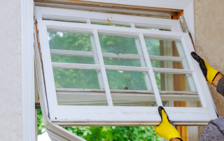 Residential home window replacement in the Twin Cities by Van Horn Construction.